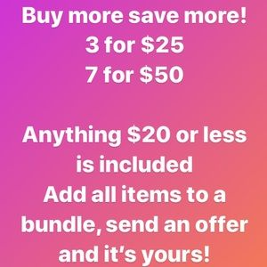 💗 Buy more save more!